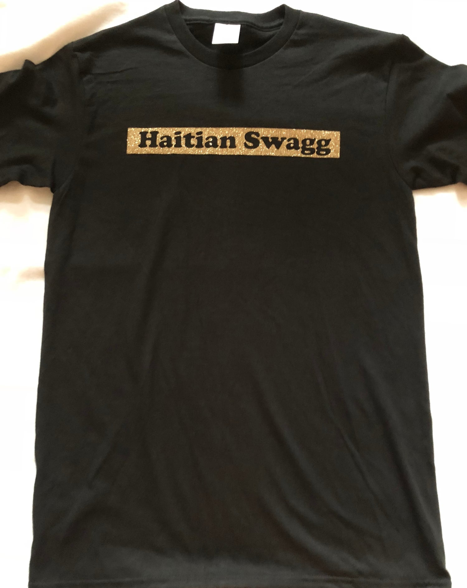 Image of Haitian Swagg one line Black and Gold