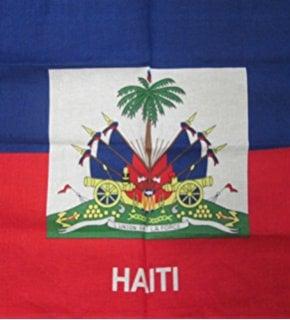"""Image of HAITI FLAG BANDANA 22""""×22"""""""