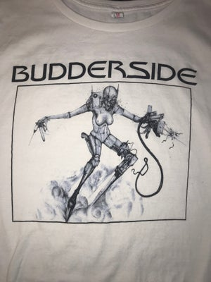 Image of Agent Budderside Illustration on White Tour T Shirt