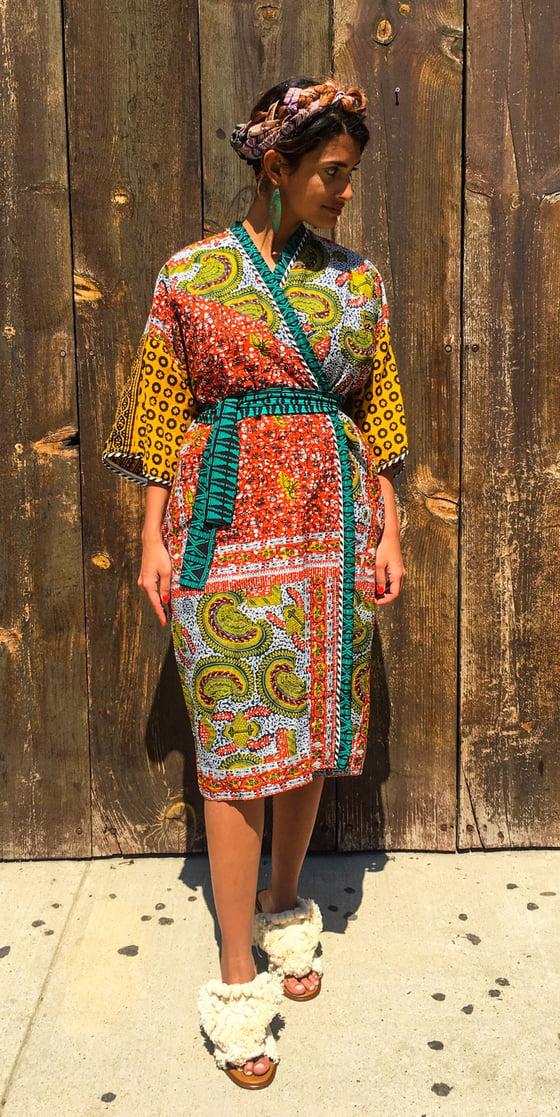 Image of •Laaba• Kimono: Nairobi Geo Combo