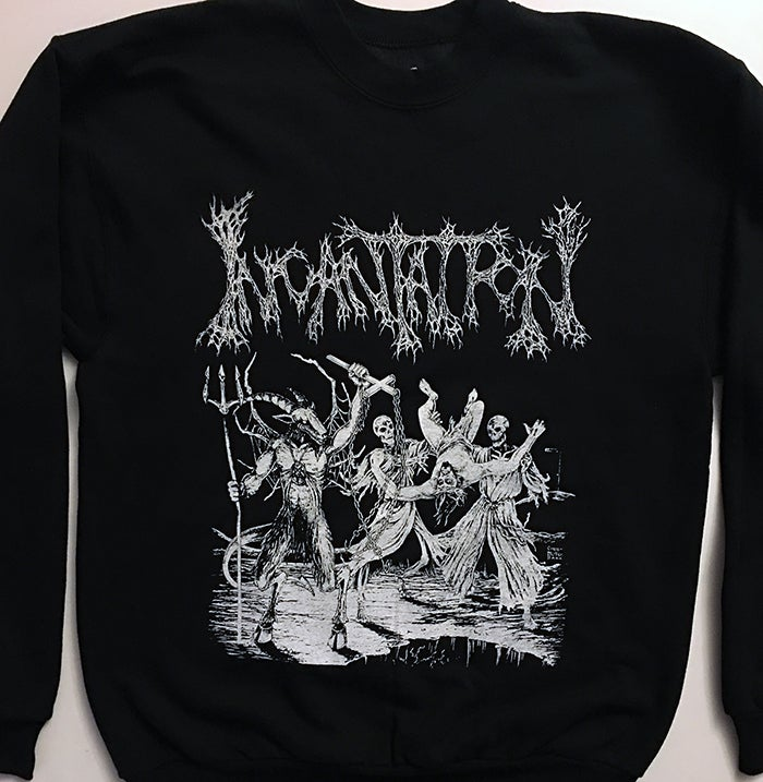 Image of Incantation - Blasphemous Cremation  Crew Neck Fleece Sweatshirt