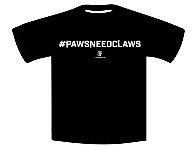 Image of #PawsNeedClaws, Black Unisex T-shirt