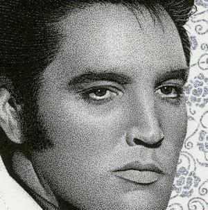Image of ELVIS PRESLEY ink original