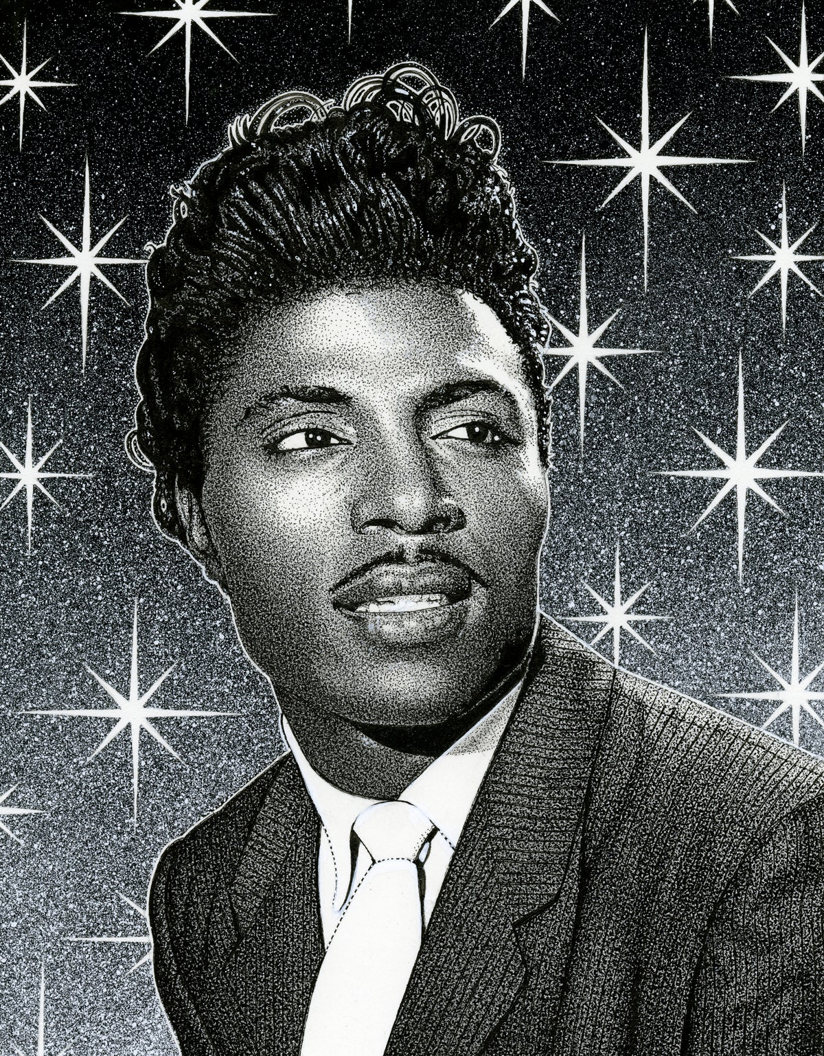 Image of LITTLE RICHARD ink original