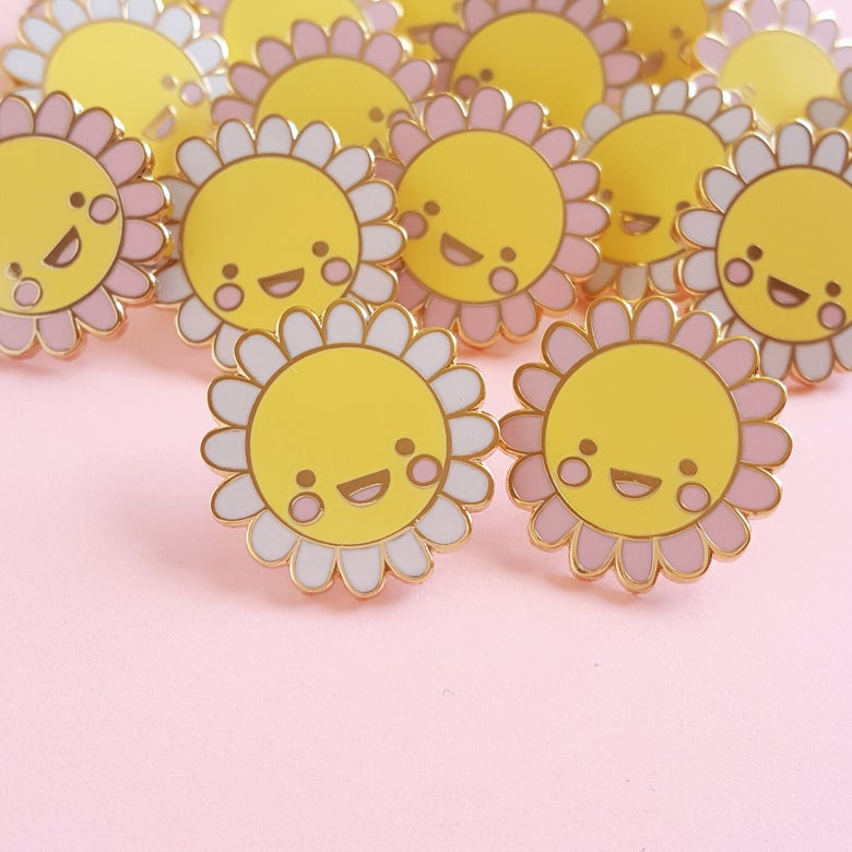 Image of Happy Little Daisy Hard Enamel Pin