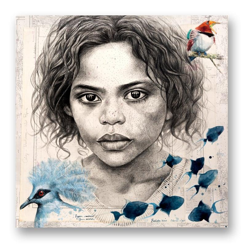 """Image of Paper Art Print - """"Candy aux oiseaux"""""""