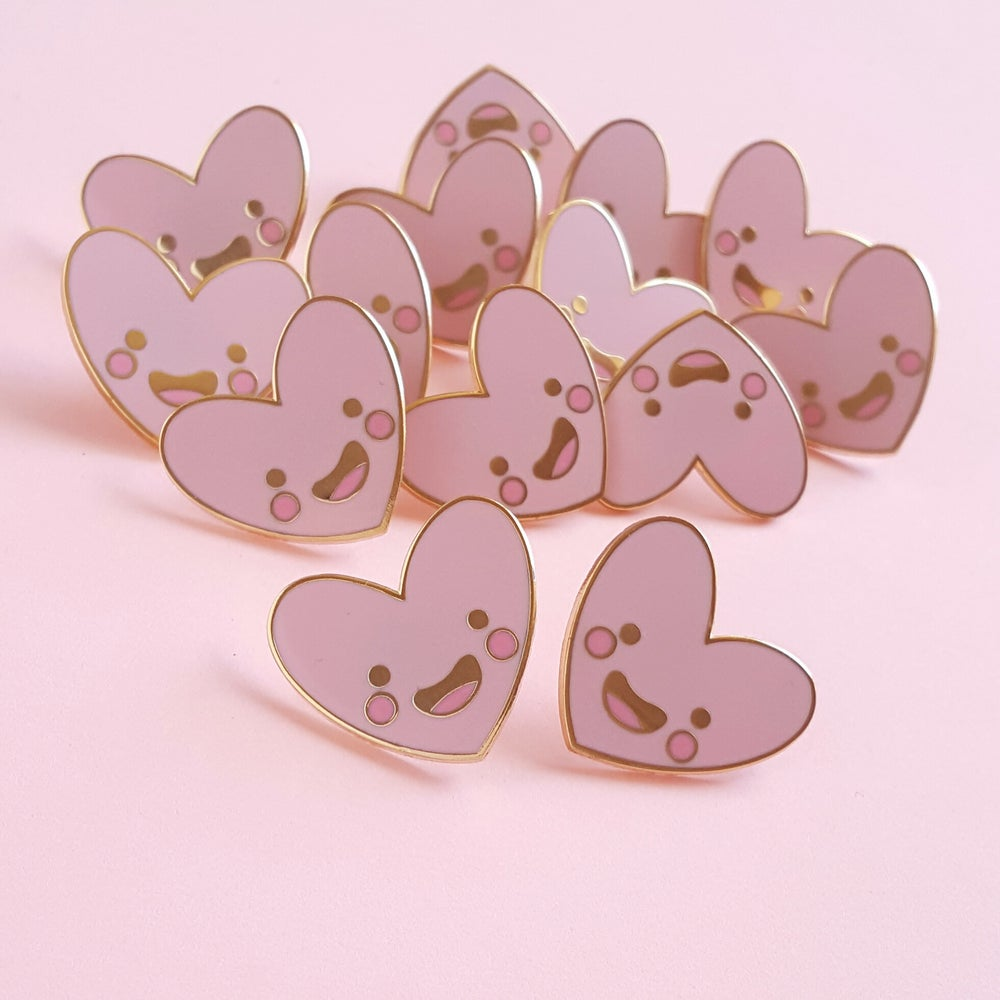Image of Happy Little Heart Hard Enamel Pin