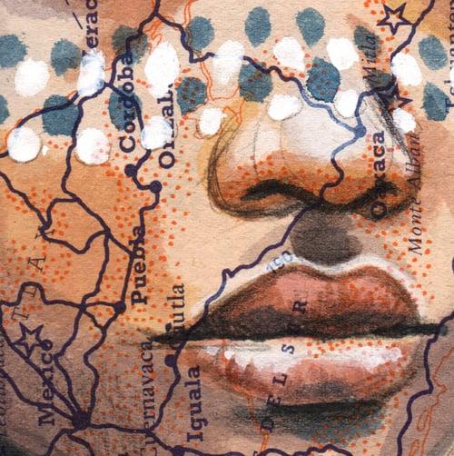 "Image of Paper Art Print - ""Peintures rituelles"""