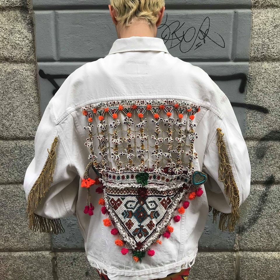 Image of MEXICAN VIBES DENIM JACKET #4