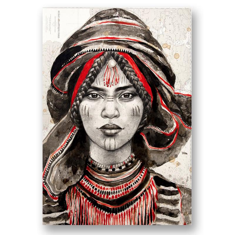 """Image of Canva Art Print - """"Maryama Rouge"""""""