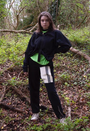 Image of TAPED ASYMMETRIC SWEATSHIRT