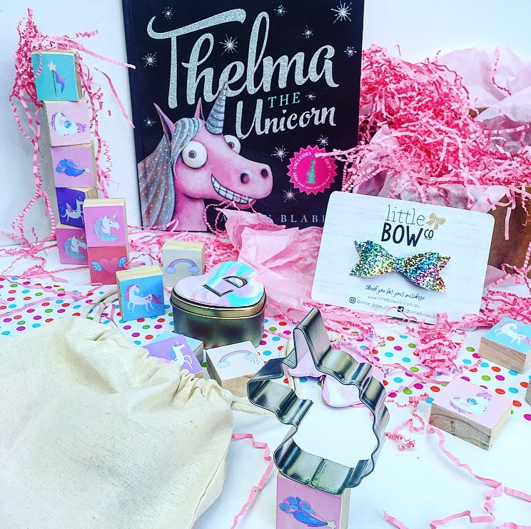 Image of Unicorn Gift Box with Little Bow Co. Rainbow Clip