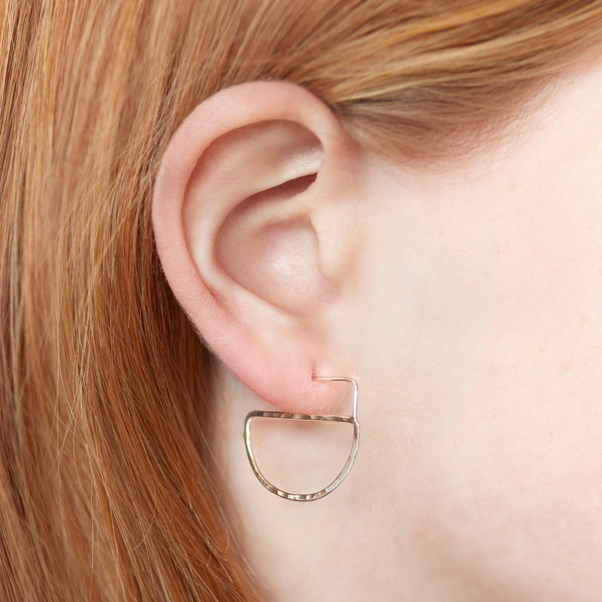 Image of Half Moon Open Earrings