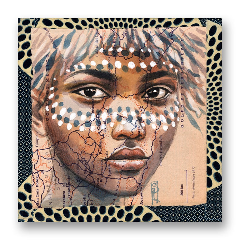 "Image of Canva Art Print - ""Peintures rituelles"""