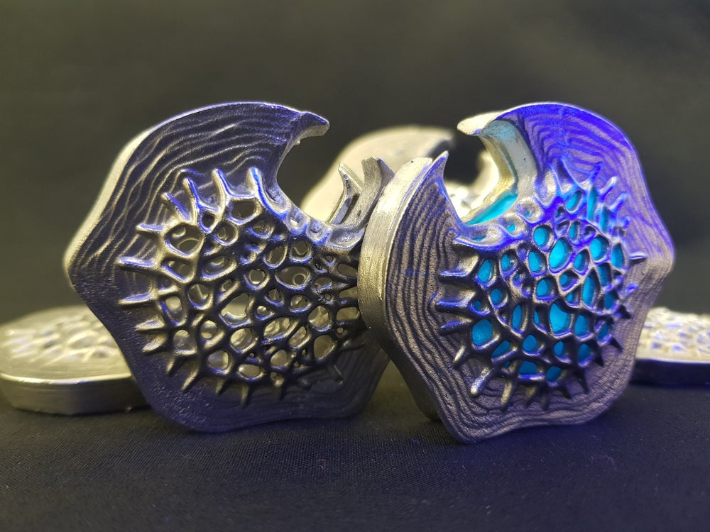 Image of Altered Carbon Cortical Stack Cast In Solid Metal Pewter