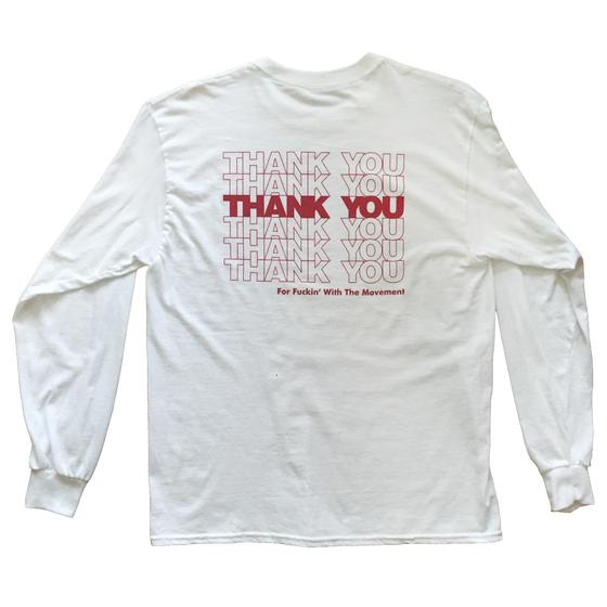 Image of THANK YOU Long Sleeve Tee