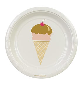 Image of Ice cream Cake Plates
