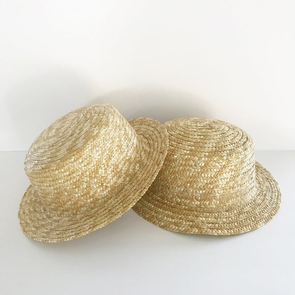 Image of Straw boater hat
