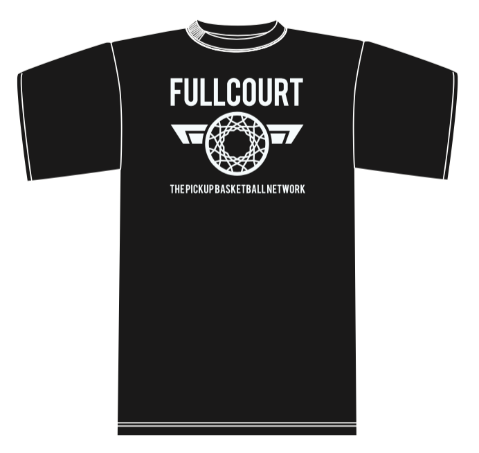 Image of Fullcourt T-Shirt & Donated Fullcourt basketball to inner city homeless youth