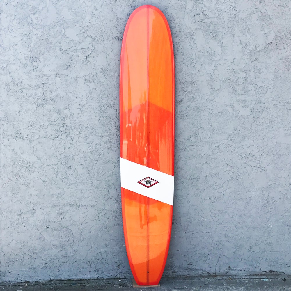"Image of Tourmaline 9'5"" Surfboard by HOT ROD SURF ®  – Orange Resin Tint"