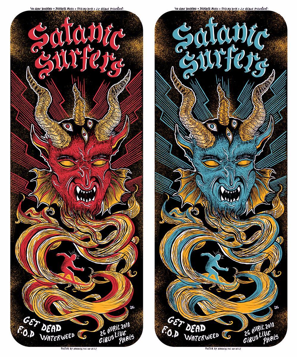 SATANIC SURFERS (2018) screenprinted poster