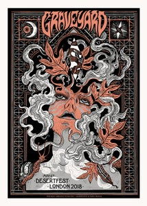 Image of GRAVEYARD (Desertfest London 2018) screenprinted poster