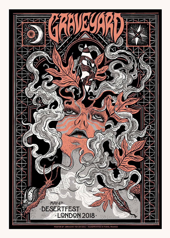 GRAVEYARD (Desertfest London 2018) screenprinted poster