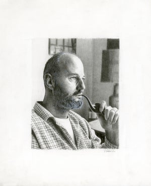 Image of LAWRENCE FERLINGHETTI graphite original