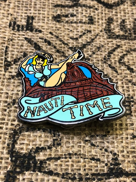 "Image of 2"" Hard Enamel Nautilus Pin"