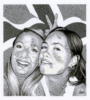 Image of DISEASED NORWEGIANS No. 2 ink original