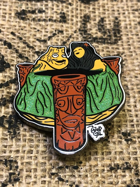 "Image of 2"" Hard Enamel ""Lava"" Bowl Pin"