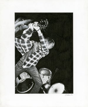 Image of KURT COBAIN ink original