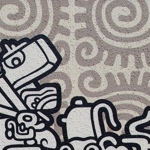 Image of MAYAN MOFO acrylic painting