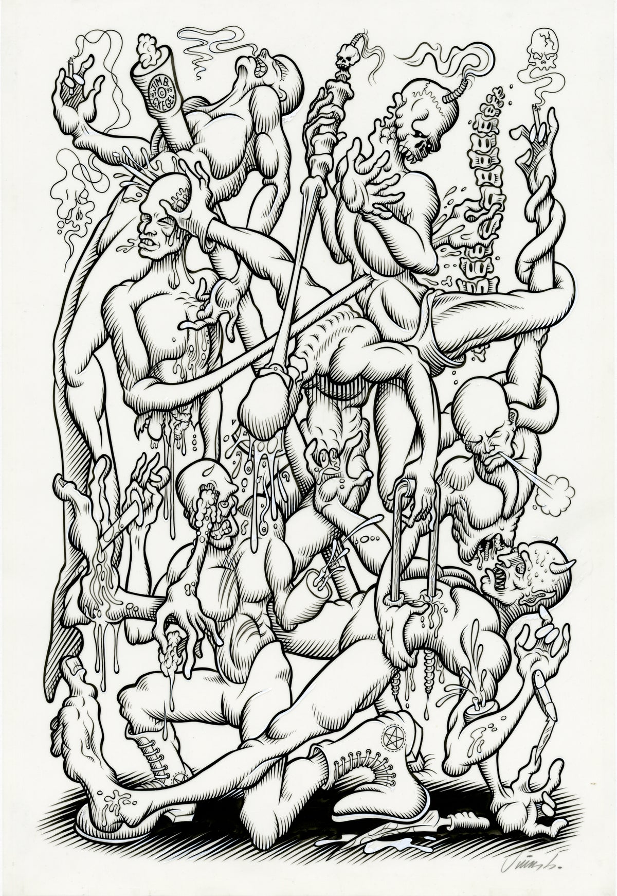 Image of THE GLORY OF MAN No. 2 ink original