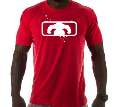 Image of Men's BSF Logo T - Red/White