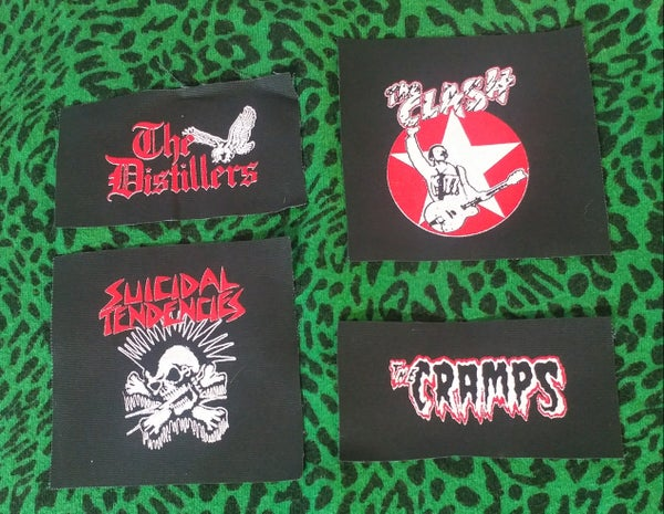 Image of Pick 1 patch - The Clash, The Distillers, Suicidal Tendencies, The Cramps