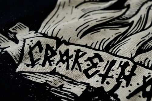 "Image of ""Crack"" Black T-Shirt"