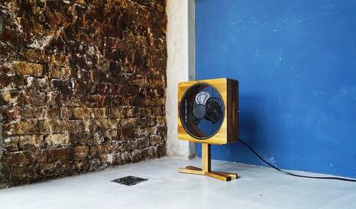 Image of Pedestal Wooden Fan