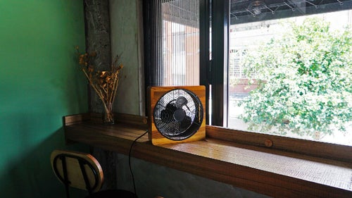 Image of Pedestal Wooden Fan