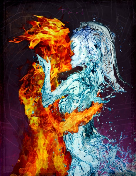 "Image of Teod Tomlinson ""Elemental Embrace"" Signed Archival Artist Proof on art paper"