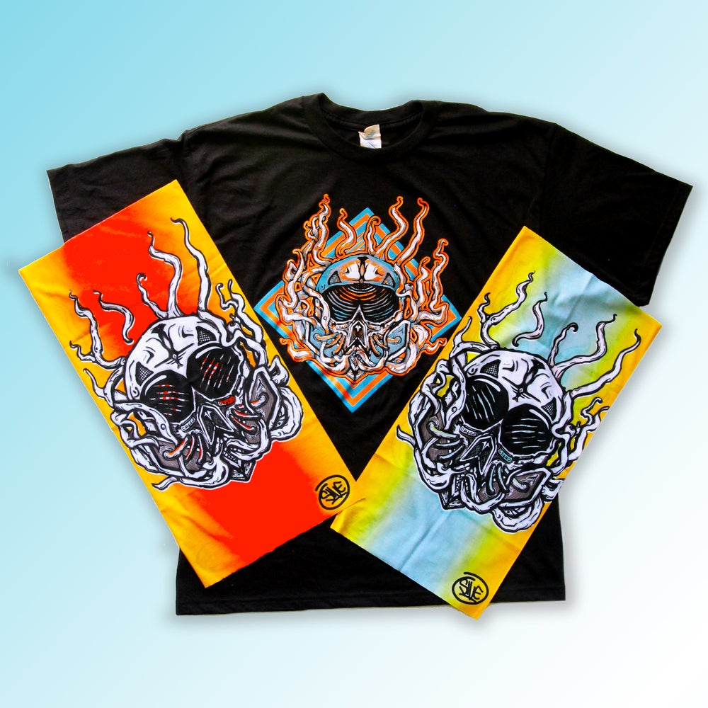 Image of Abyss Shirt and Bandanna Combo