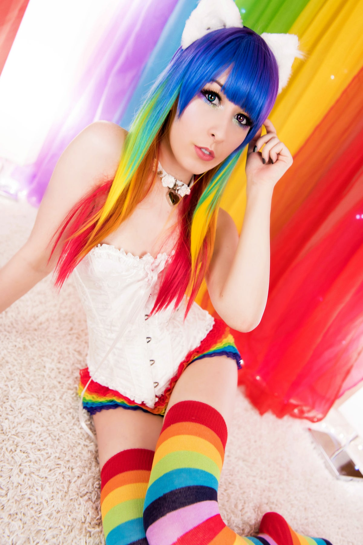 Image of Rainbow Neko Set