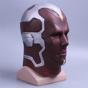 Image of Vision Infinity War Mask Cosplay 2018 Avengers 3 Full Head Vision Mask