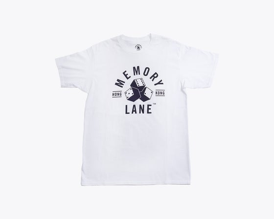 Image of MEMORY LANE - DICE TEE (WHITE)