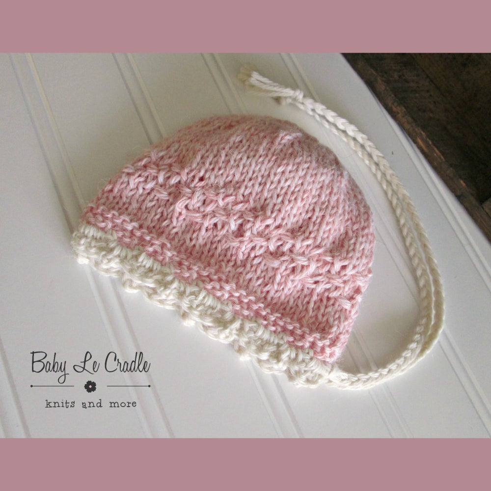 Image of Harper Victorian Bonnet in Pink with Cream, Alpaca