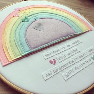 Image of 'Somewhere over the rainbow' large hoop art