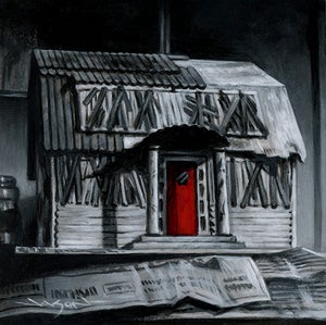 """Image of """"Thompson Popsicle House"""" - 5"""" x 5"""" giclee"""