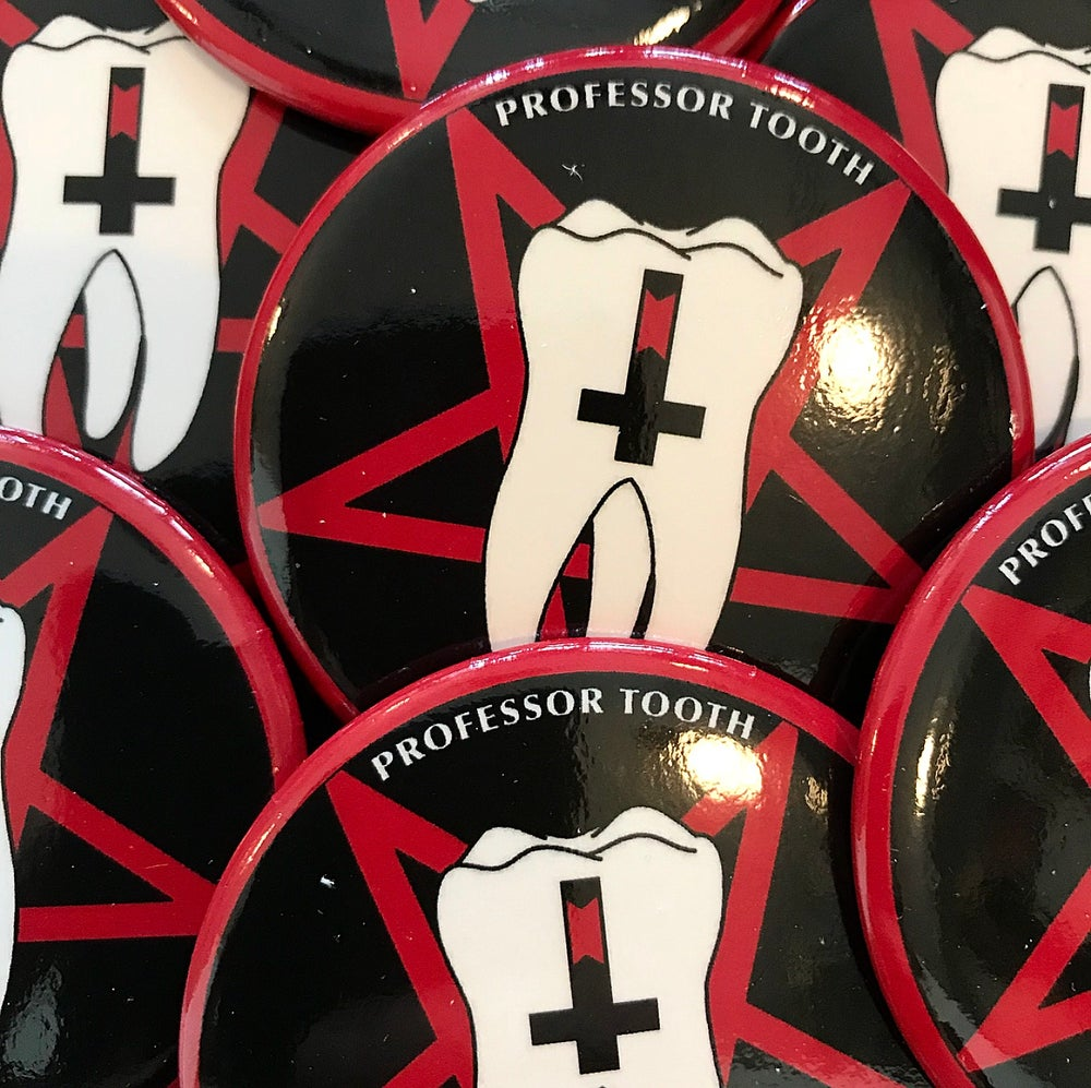 Image of Professor Tooth Brand Classic Style Button