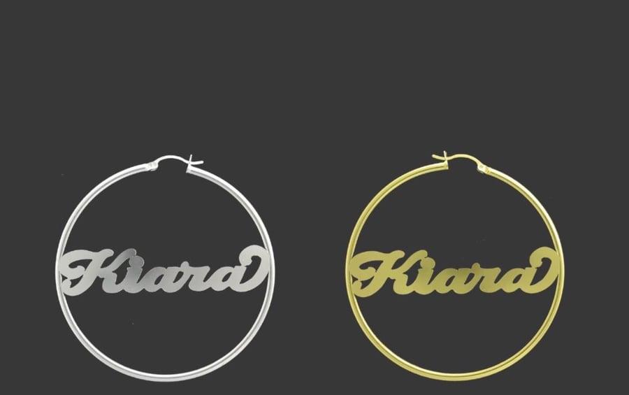Image of Custom name earrings!