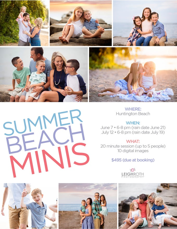 Image of 2018 Summer Beach Mini Sessions - BOOKING OPENS MAY 11 at 8 am